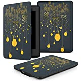 MoKo Case for Kindle Paperwhite, Premium Thinnest and Lightest Leather Cover with Auto Wake / Sleep for Amazon All-New Kindle Paperwhite (Fits All 2012, 2013 and 2015 Versions), City Night View