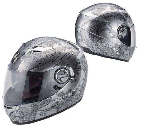 Scorpion EXO-500 Bio-Metal Motorcycle Helmet Gray XS X-Small