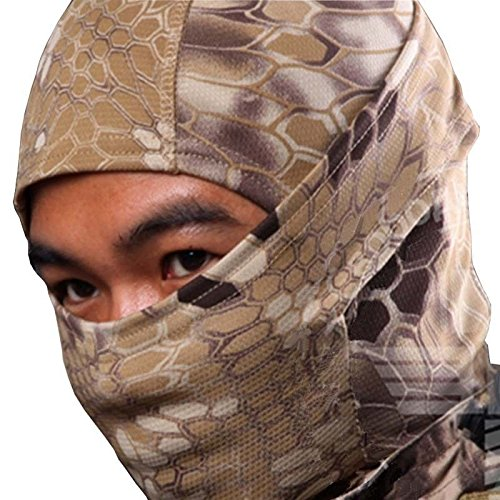 - Light Tank Khaki Desert Snake Camo Camoflauge Balaclava Face Mask Hunting Military Hunt Biker Outdoors Ski Cold Weather