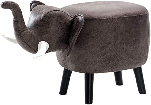 Solid Wood Animal Leather Stool Ottoman Creative Cute Stool Review