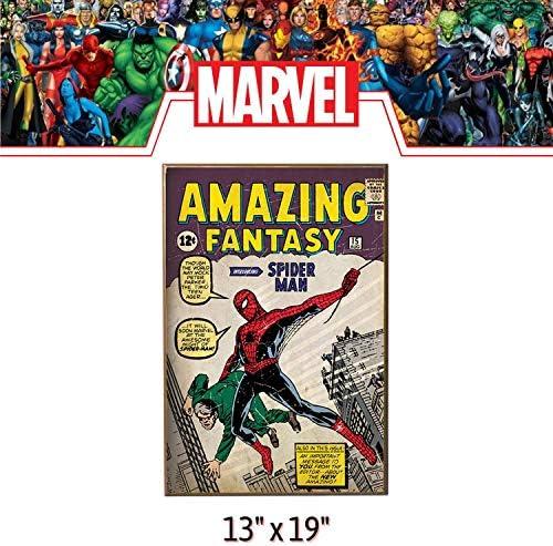 The Amazing Spider-Man Wood Wall Art 13x19 Marvel Comics Brand New
