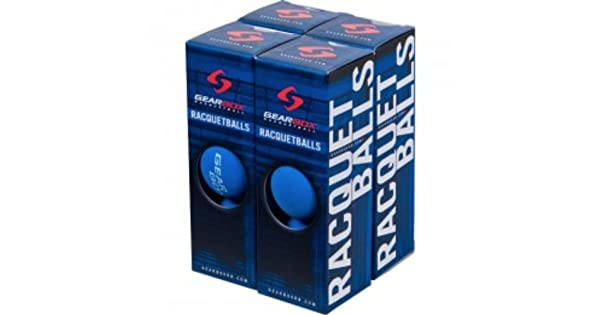 Amazon.com: Gearbox racquetballs – Azul 4 cajas de 3 bolas ...