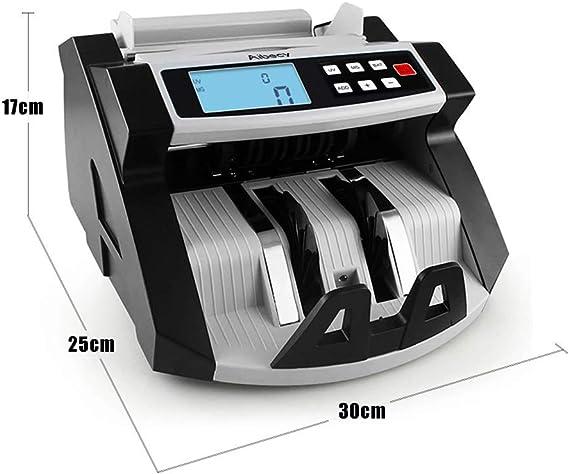 KKmoon 220 V caja registradora Mixta automático multifuncional - LCD contadores detección de UV/MG/IR de monedas para Euro Dólar etc.: Amazon.es: Electrónica