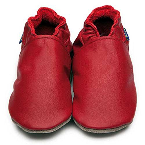 Inch Blue Krabbelschuhe Plain Red, Child Medium