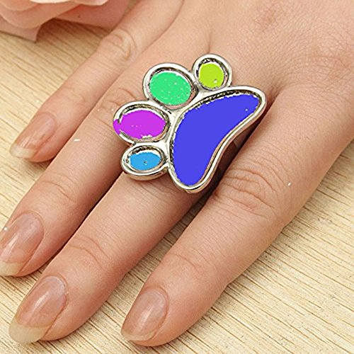 2 Pieces Mini Nail Art Polish Holder Nail Art Palette Rings Nail Palette Finger Rings