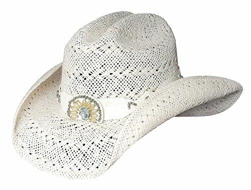 Bullhide Hats Women's Itchygoonie White Straw Cowboy Hat X_large (Hat White Pointer)