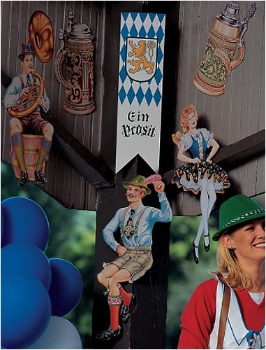 Beistle 55646 6-Pack Oktoberfest Cutouts, 20-Inch - 6 Pack Beer Costume