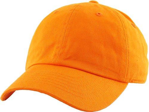 - Funky Junque H-100kids-L35 Large Kids Baseball Cap - Orange (6-9)