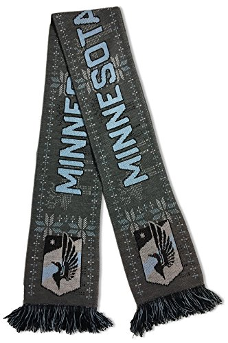 fan products of MLS Minnesota United Soccer Scarves, One Size, Gray