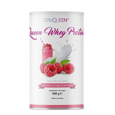 GymQueen Proteína de Whey – Proteína de suero de leche concentrada e aislada, Frambuesa y