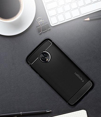 Spigen Rugged Armor Moto G6 Case Flexible Durable Shock Absorption Carbon Fiber Design Motorola Moto G6 (2018) - Black by Spigen (Image #3)