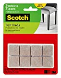 Tools & Hardware : Scotch Brand Felt Pads, Square, Beige, 1 in. x 1 in, 16 Pads/Pack