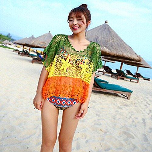 QXJ Blusa de Playa Sol Vestido bikini corte a chicas suéter trajes de baño en blusa de verano , picture color ,: Amazon.es: Deportes y aire libre