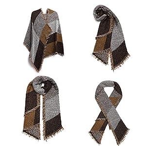Miss Lulu Donna Sciarpa Scialle Inverno Invernale Grande Quadrato Donna Sciarpa Vestibilità Adatta a Tutti Abbigliamento per Moda