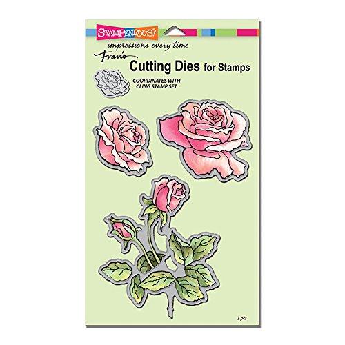 Stampendous Cling Stamp and Die Sets - Rose Garden - 2 Item Bundle