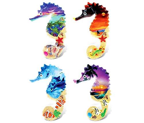 CoTa Global 7581 Colorful Tropical Sea Horses, Orange/Blue/Purple/Yellow