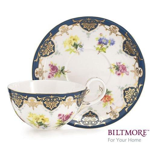 Collection Porcelain Teacup - Vanderbilt Porcelain Teacup and Saucer Set From Biltmore House Collection
