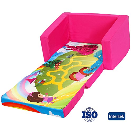 2 IN 1   Perfectly Sized Sofa Bed For Kids. Fold Out Bottom Piece 2 In 1 Flip  Open Kids Sofa Bed, Gives Childrens The Option Of Lying Down Flat.