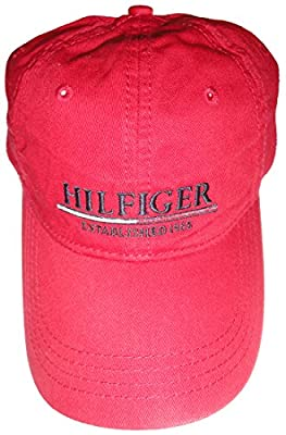 Tommy Hilfiger Men's Hat Ball Cap Red