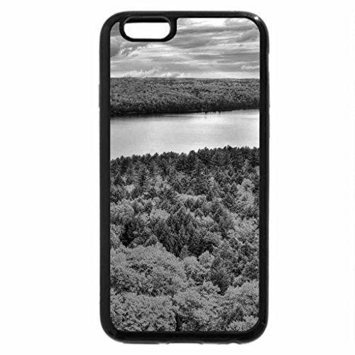 iPhone 6S Plus Case, iPhone 6 Plus Case (Black & White) - algonquin park ontario lake in autumn hdr
