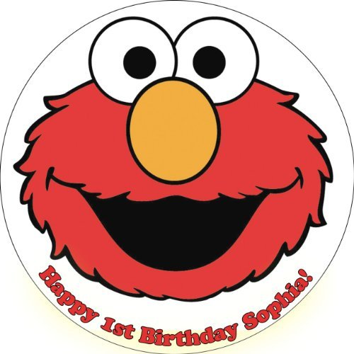 Single Source Party Supplies - Elmo Cake Edible Icing Image #5 8.25