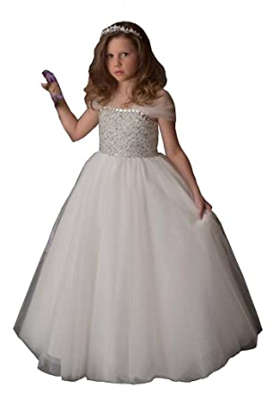 Banfvting Bling Bling Beading Junior Bridesmaid Dress Kids Formal Gown Lace Up