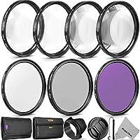 Filtro de lentes Vivitar Professional UV CPL FLD de 58 mm y kit de accesorios de macro de primer plano para lentes con un filtro de 58 mm