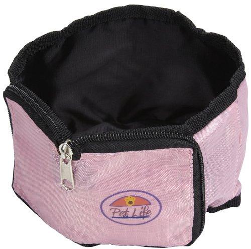 Pet Life Wallet Travel Pet Bowl in Pink, My Pet Supplies