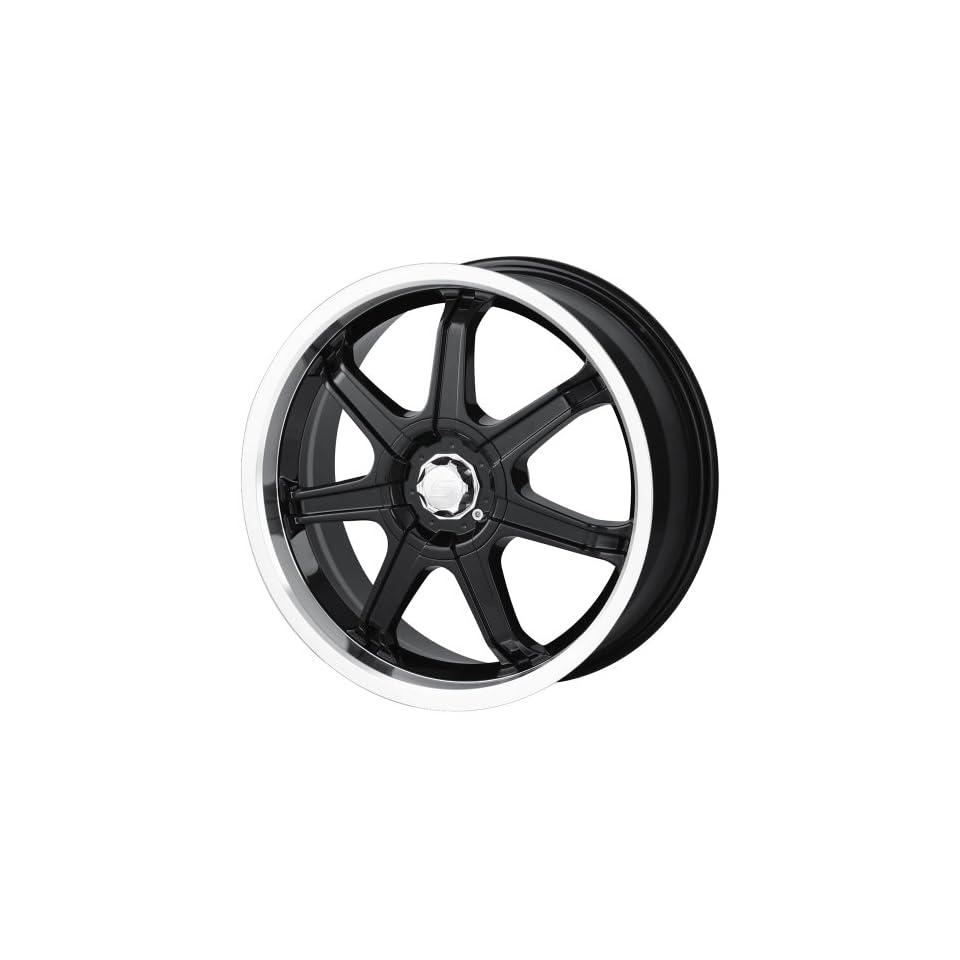 18x7.5 Sacchi S35 (235) (Black w/ Machined Lip) Wheels/Rims 4x108/108 (235 8720B) Automotive