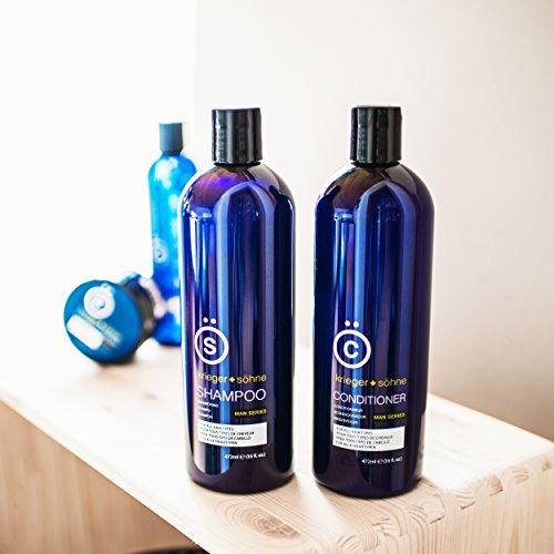 K + S Salon Quality Men's Shampoo + Conditioner Set (16oz)