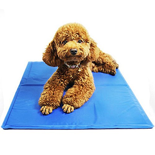 bluee3 Zehui Summer Soft Rapid Cooling Ice Pad Pet Bed Thermal Pad for Dogs Cats Pet Self Cooling Mat bluee M