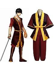 GNZY Avatar The Last Airbender Prince Zuko Cosplay Kostuum Anime Uniform Omvatten Shirt+Cape+ Broek Riem