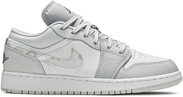 Amazon.com | Jordan Kid's Shoes Nike Air 1 Low SE (GS) White Camo ...