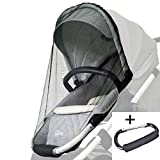 Baby Stroller Cover Mosquito Net with Stroller Hook ShineMe Bug Full Cover for Trolley Standard Carriers, Car Seats Cover, Cradles, Beds Insect Mesh Netting (cover net with hook)