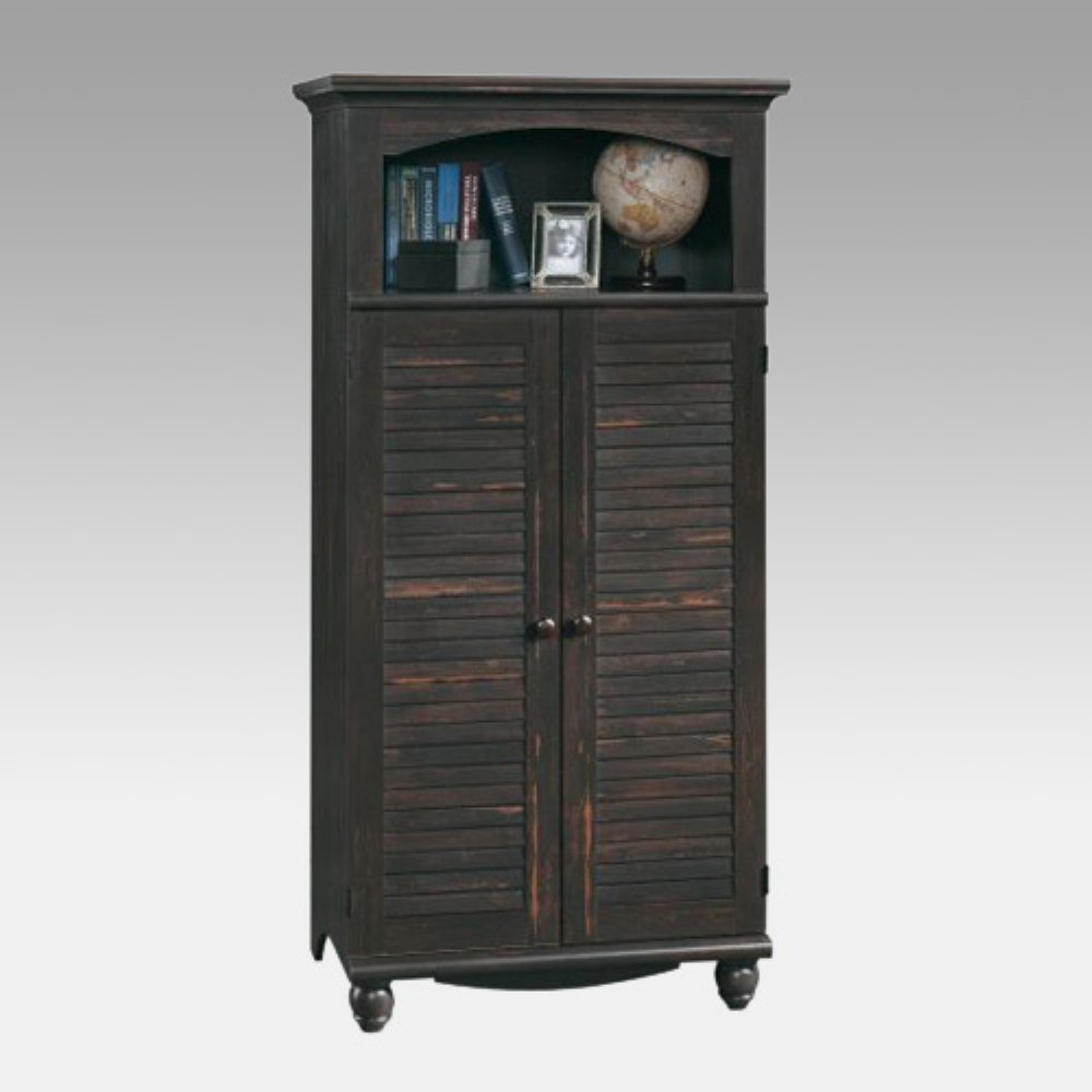 sauder harbor view computer armoire antiqued paint