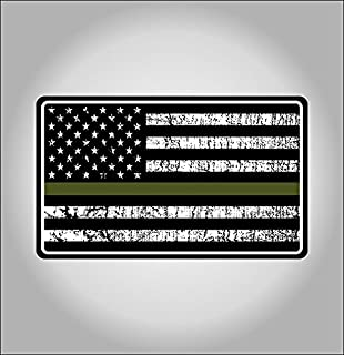 amazon com 4 subdued od green american flag color sticker