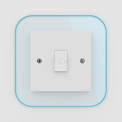 Embellecedor para interruptor de la luz o enchufe individual (8 colores disponibles)