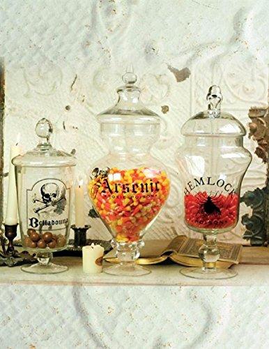 (Victorian Trading Co. 3 Poison Apothecary Glass Jars Belladonna Arsenic Hemlock)