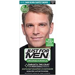 Just For Men Original Formula Men's Hair Color, Dark Blond Lightest Brown (Pack of 3)