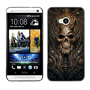 Impact Case Cover with Art Pattern Designs FOR HTC One M7 Goth Demon Skull Betty shop