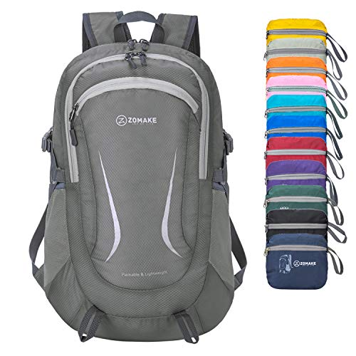 ZOMAKE Ultra Lightweight Hiking Backpack - Packable Durable Water Resistant Travel Backpack Daypack...