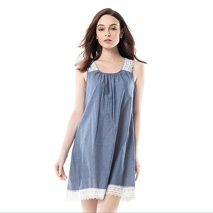 097c0afa8 Mujer Vestido De Dormir Sin Mangas Cuello Redondo Pijamas Mujer Splice  Encaje Hueco Camisón Vestido Sin Tirantes Mode De Marca Pijama  Amazon.es   Ropa y ...