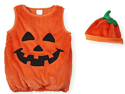 Koala Kids Pumpkin Little Boys & Girls 2 Piece Plush Halloween Costume (9-12 Months) (Preemie Halloween Costumes)