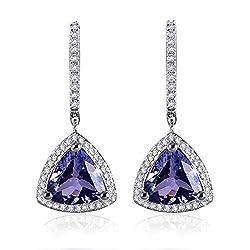 Diamond Tanzanite Drop Earrings
