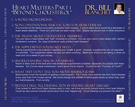 HEART MATTERS - THE SET (Beyond Cholesterol and Heart Scans - What you need  to know to prevent heart attacks)