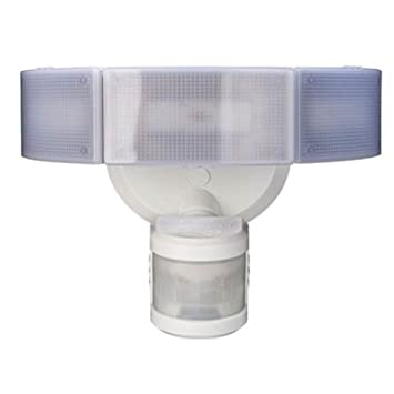 Amazon defiant 270 3 head white led motion outdoor security defiant 270 3 head white led motion outdoor security light mozeypictures Gallery