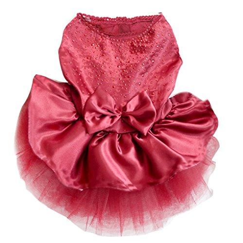 Tutu Dress Lace Skirt Cat Princess Dress Small Dog Clothes (M) - 7