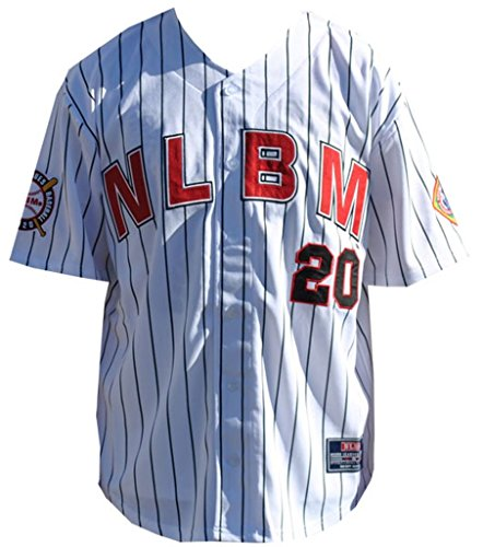 (Big Boy Headgear NLBM Mens New Commemorative Baseball Jersey Extra Large White)