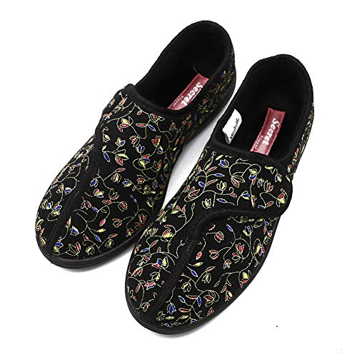 Women's Wide Adjustable Diabetic Shoes Orthopedic Slippers,