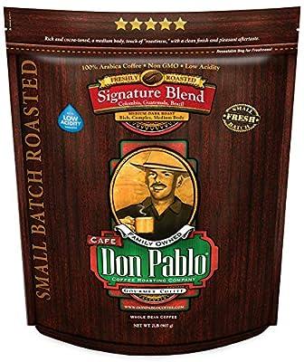 2LB Cafe Don Pablo Gourmet Coffee Signature Blend - Medium-Dark Roast Coffee - Whole Bean Coffee - 2 Pound ( 2lb ) Bag